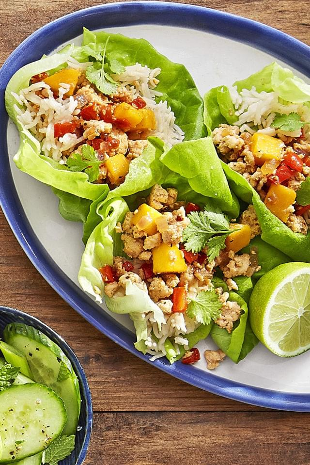 Lettuce Chicken Tacos