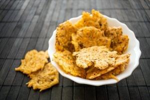Keto Baked Cheddar Chips