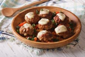 Cheesy Chicken Parmesan Meatballs