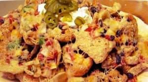 Cheesy Pork Rind Nachos
