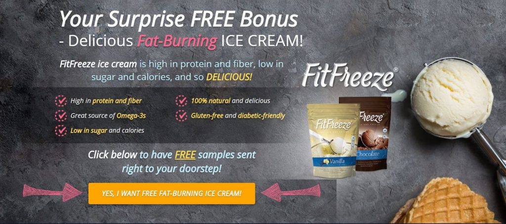 Fit Freeze ice cream banner