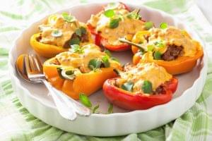 Goat Cheese Stuffed Roasted Peppers