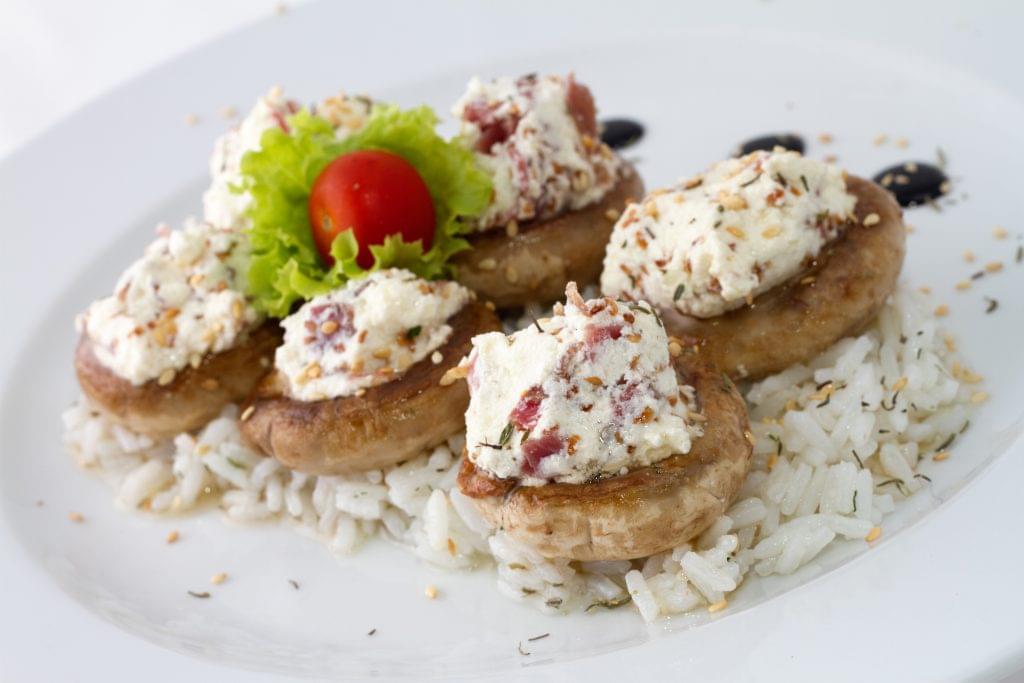 Prosciutto and Cream Cheese Stuffed Mushrooms