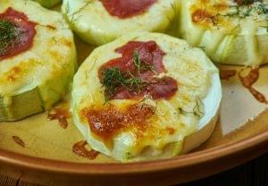 zucchini mini pizzas