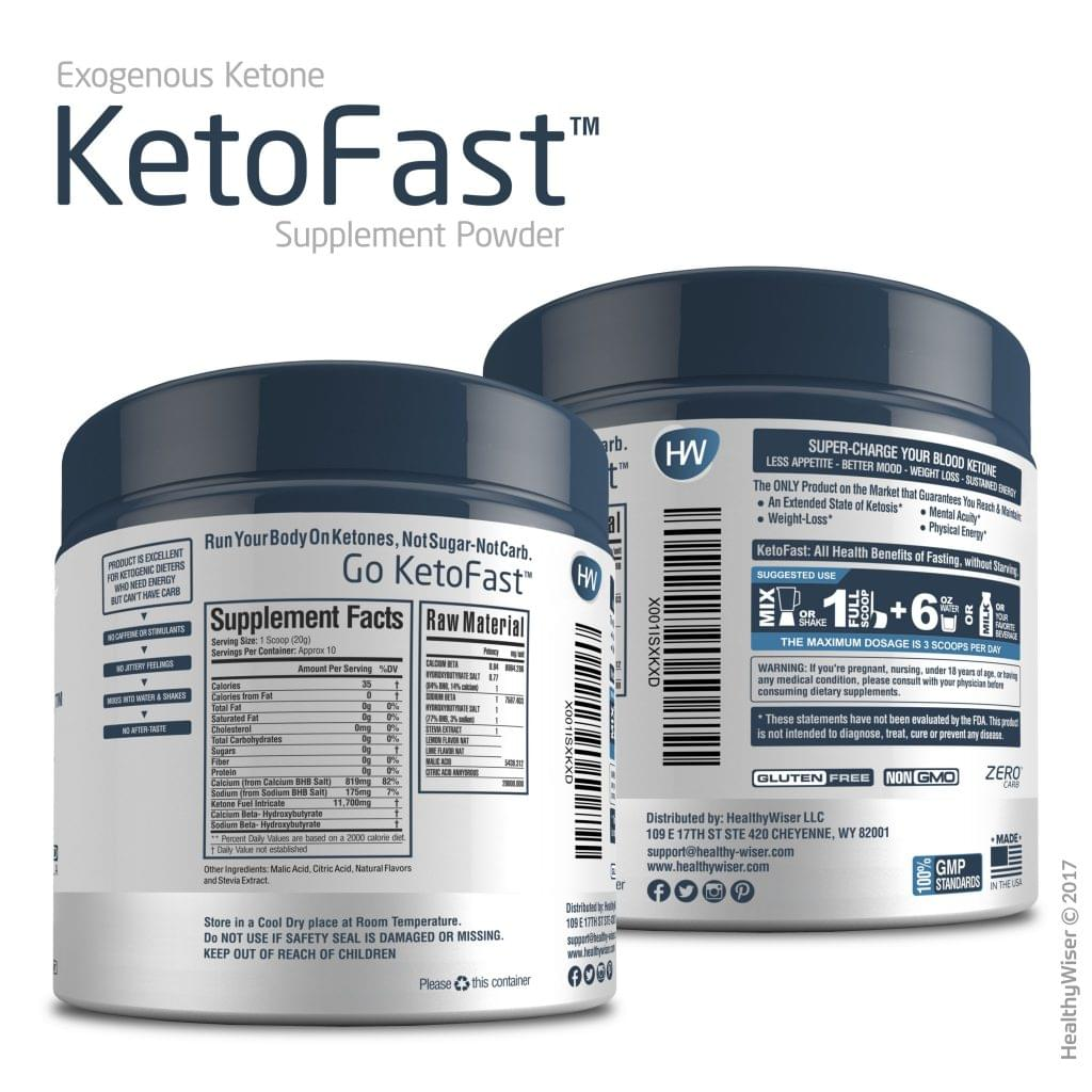 healthy wiser keto fast supplement facts