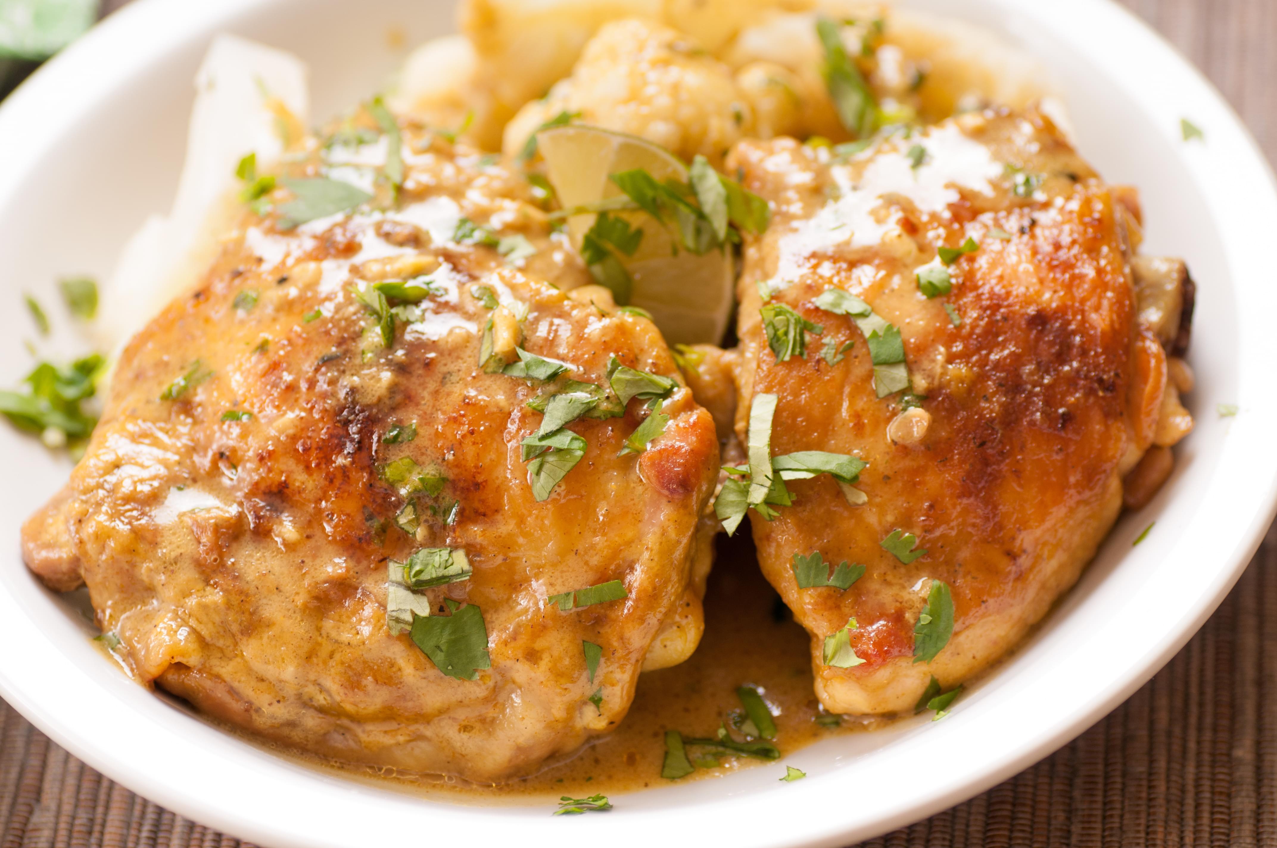 Chicken Thighs with Lemon Cream Sauce