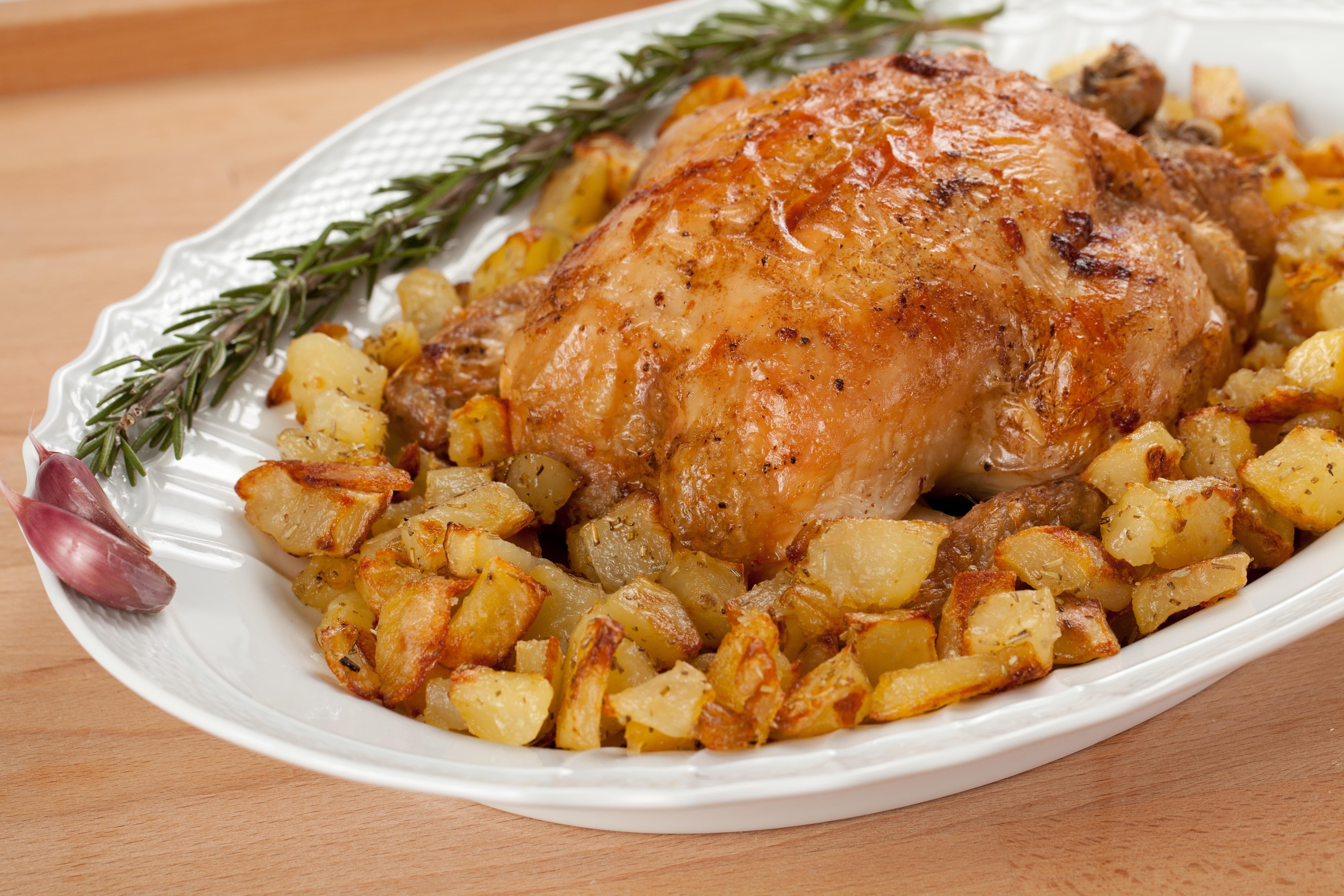 Herb Roasted Whole Chicken with Jicama