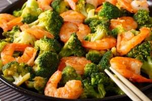 Shrimp Bamboo Shoot and Broccoli Stir Fry