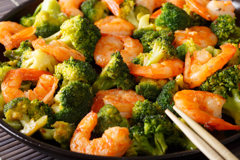 Shrimp Bamboo Shoot and Broccoli Stir Fry