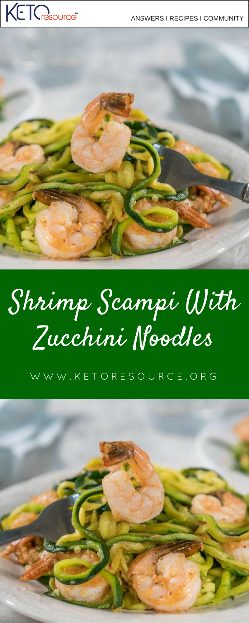 Shrimp Scampi With Zucchini Noodles - Ketogenic Diet Resource