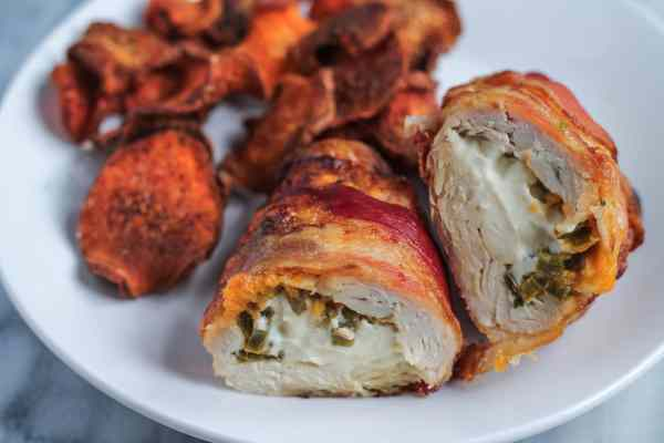 Bacon Wrapped Jalapeño Chicken