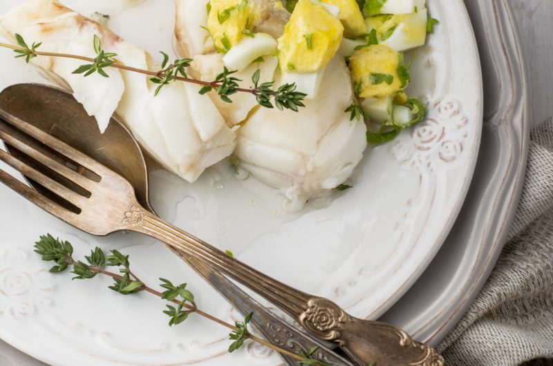 Baked Lemon Butter and Thyme Cod