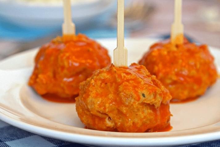 Blue Cheese Buffalo Chicken Balls