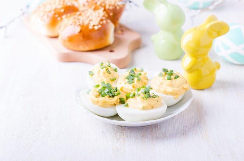 Creamy Dill Deviled Eggs
