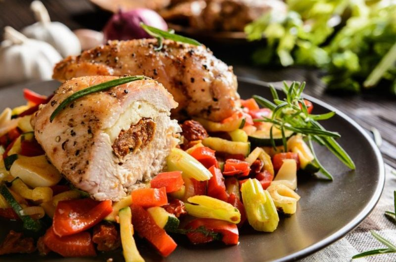 Feta and Olive Stuffed Chicken Thighs