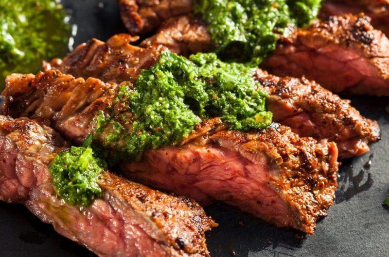 Grilled Hanger Steak with Cilantro Crema