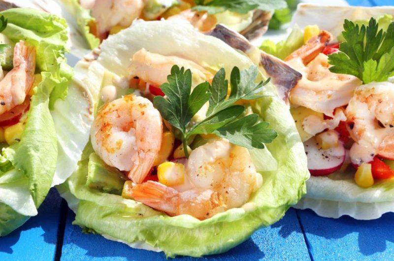 Grilled Shrimp with Avocado Salad