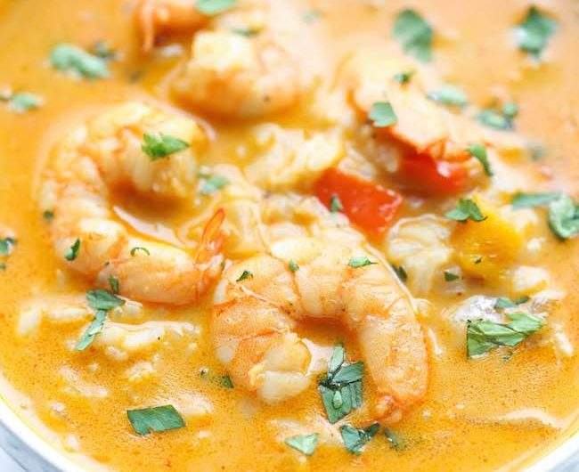 Shrimp with Cauliflower Rice