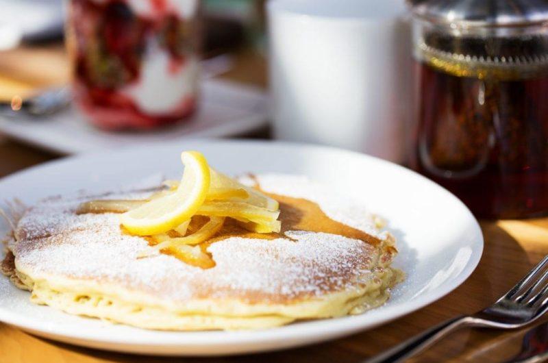 Lemon Lavender Ricotta Pancakes