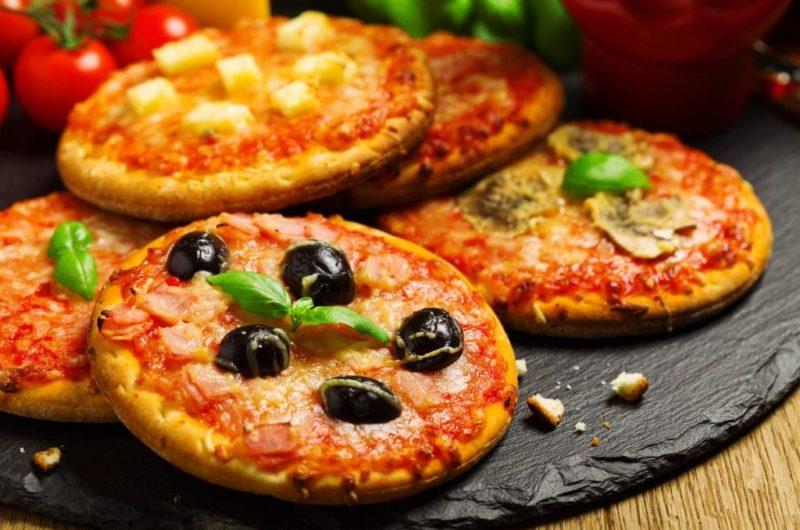 Mini Salami and Cheese Pizzas