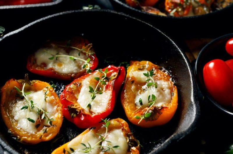 Roasted Pesto Pepper Poppers