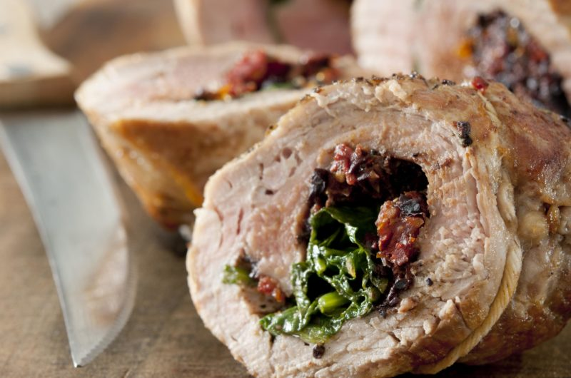 Tuscan Spinach and Havarti Stuffed Pork Loin