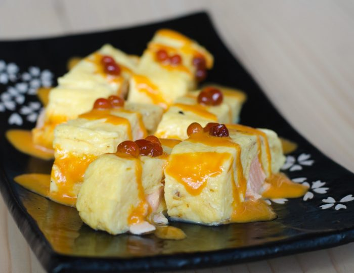 japanese egg sushi, Fried egg roll Tamagoyaki